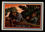 1953 Topps Fighting Marines #58   Staying With Pal Front Thumbnail