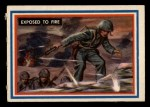 1953 Topps Fighting Marines #66   Exposed To Fire Front Thumbnail
