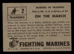 1953 Topps Fighting Marines #2   On The March Back Thumbnail
