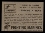 1953 Topps Fighting Marines #3   Landing Tank Back Thumbnail