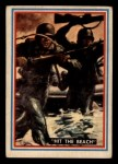 1953 Topps Fighting Marines #36   Hit The Beach Front Thumbnail