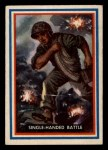 1953 Topps Fighting Marines #62   Single-Handed Battle Front Thumbnail