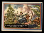 1953 Topps Fighting Marines #80   Spanish American War Front Thumbnail