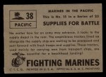 1953 Topps Fighting Marines #38   Supplies For Battle Back Thumbnail