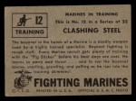 1953 Topps Fighting Marines #12   Clashing Steel Back Thumbnail