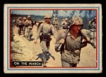 1953 Topps Fighting Marines #2   On The March Front Thumbnail