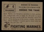 1953 Topps Fighting Marines #4   Riding The Tank Back Thumbnail