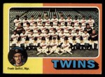 1975 Topps #443   -  Frank Quilici Twins Team Checklist Front Thumbnail