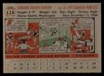 1956 Topps #116  Eddie O'Brien  Back Thumbnail