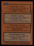 1978 Topps #706   -  Wayne Cage / Ted Cox / Pat Putnam / Dave Revering Rookie 1st Basemen   Back Thumbnail