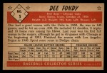 1953 Bowman B&W #5  Dee Fondy  Back Thumbnail