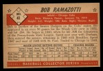 1953 Bowman B&W #41  Bob Ramazotti  Back Thumbnail