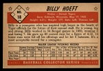 1953 Bowman Black and White #18  Billy Hoeft  Back Thumbnail