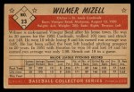 1953 Bowman Black and White #23  Wilmer Mizell  Back Thumbnail