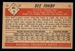 1953 Bowman Black and White #5  Dee Fondy  Back Thumbnail
