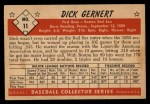 1953 Bowman B&W #11  Dick Gernert  Back Thumbnail