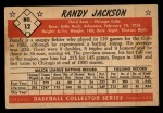 1953 Bowman Black and White #12  Randy Jackson  Back Thumbnail