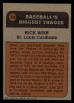 1972 Topps #756   -  Rick Wise Traded Back Thumbnail