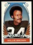1972 Topps #285   -  Willie Brown All-Pro Front Thumbnail