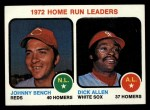 1973 Topps #62   -  Johnny Bench / Rich Allen HR Leaders Front Thumbnail