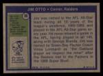 1972 Topps #86  Jim Otto  Back Thumbnail