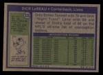 1972 Topps #335  Dick LeBeau  Back Thumbnail