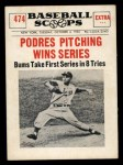 1961 Nu-Card Scoops #474  Johnny Podres  Front Thumbnail
