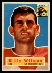 1956 Topps #62  Billy Wilson  Front Thumbnail