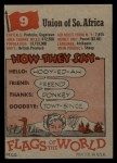 1956 Topps Flags of the World #9   Union Of South Africa Back Thumbnail