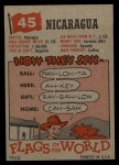 1956 Topps Flags of the World #45   Nicaragua Back Thumbnail