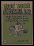 1972 Topps #343   -  Joe Namath Pro Action Back Thumbnail