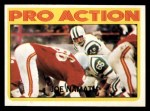 1972 Topps #343   -  Joe Namath Pro Action Front Thumbnail