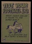 1972 Topps #340   -  Len Dawson Pro Action Back Thumbnail