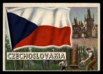 1956 Topps Flags of the World #66   Czechoslovakia Front Thumbnail