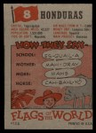 1956 Topps Flags of the World #8   Honduras Back Thumbnail