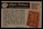 1955 Bowman #13  Clyde Vollmer  Back Thumbnail