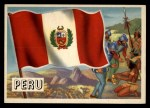 1956 Topps Flags of the World #6   Peru Front Thumbnail
