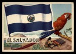 1956 Topps Flags of the World #3   El Salvador Front Thumbnail