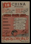 1956 Topps Flags of the World #18   China ( Nationalist ) Back Thumbnail