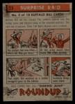 1956 Topps Round Up #25   -  Buffalo Bill  Surprise Raid Back Thumbnail