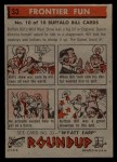 1956 Topps Round Up #30   -  Buffalo Bill  Frontier Fun Back Thumbnail