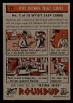 1956 Topps Round Up #32   -  Wyatt Earp  Put Down That Gun Back Thumbnail