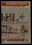 1956 Topps Round Up #68   -  Geronimo Flaming Terror Back Thumbnail