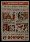 1956 Topps Round Up #18   -  Calamity Jane Fighting Mad Back Thumbnail