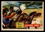 1956 Topps Round Up #40   -  Wyatt Earp Leaping Fury Front Thumbnail