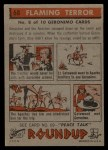 1956 Topps Round Up #68   -  Geronimo Flaming Terror Back Thumbnail