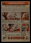 1956 Topps Round Up #78   -  Kit Carson Surrounded Back Thumbnail