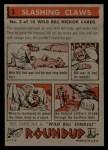 1956 Topps Round Up #3   -  Wild Bill Hickok  Slashing Claws Back Thumbnail