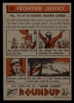 1956 Topps Round Up #50   -  Daniel Boone Frontier Justice Back Thumbnail