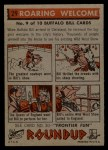 1956 Topps Round Up #29   -  Buffalo Bill Roaring Welcome Back Thumbnail